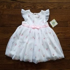 Little Me white pink floral dress 24 month